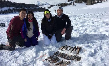 Kokanee Salmon caught near Keystone Resort on Lake Dillon