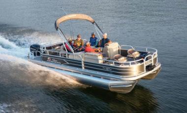 Charter Boat With Guests on Lake Dillon, Breckenridge Colorado